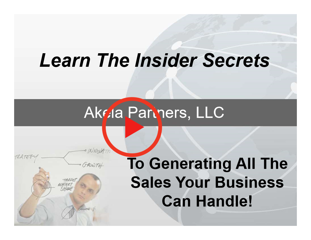 Insider Secrets To Generating All The Sales Your Business Can Handle