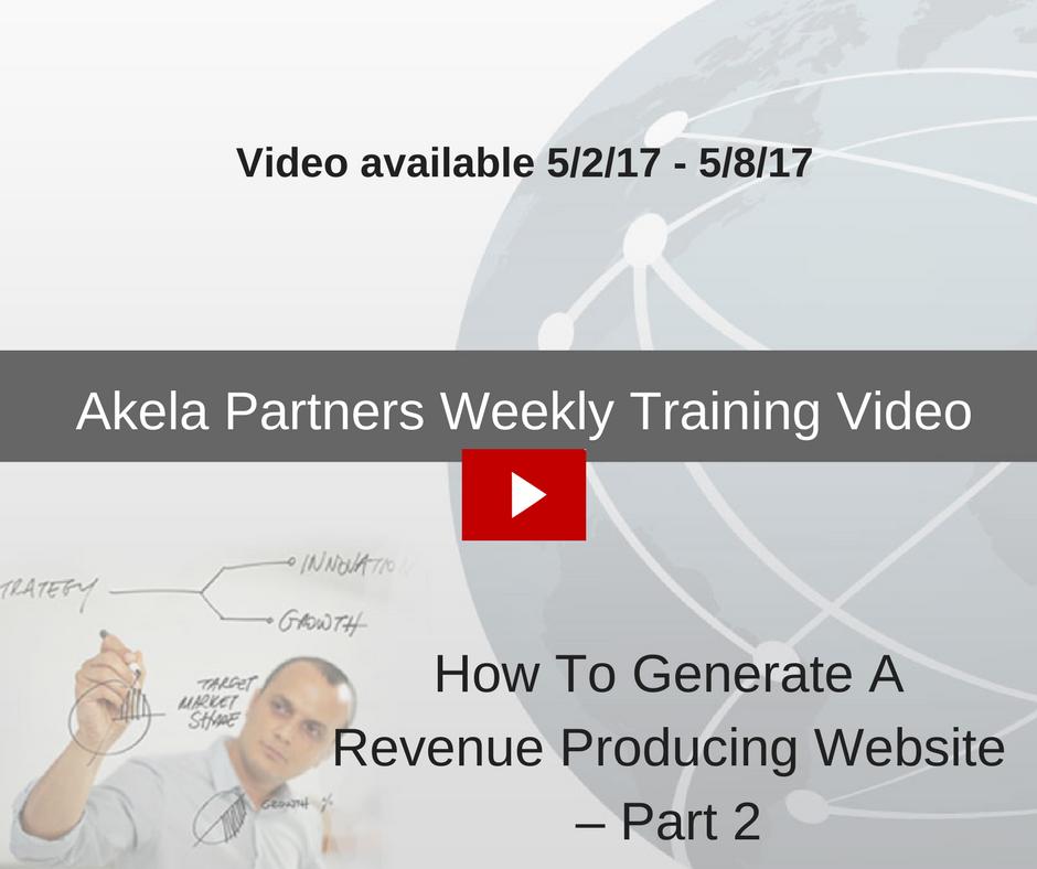 Akela Partners Weekly Training Video (2)